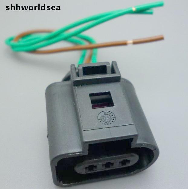 shhworldsea 50pcs 1J0973703 Camshaft Cam Sensor Pigtail Plug Connector case for 02 04 Audi A4 A6