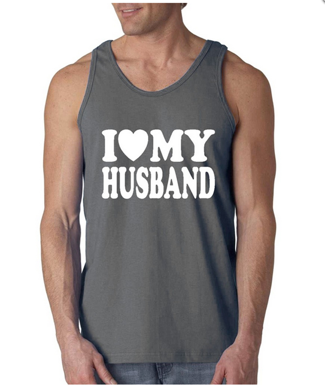 70eabbfe I Heart My Wife/I Love My Husband Coupls Mens/Womens Sleeveless Tank Tops  Adult Size S 2XL Couples Tanks -in Tank Tops from Men's Clothing on  Aliexpress.com ...