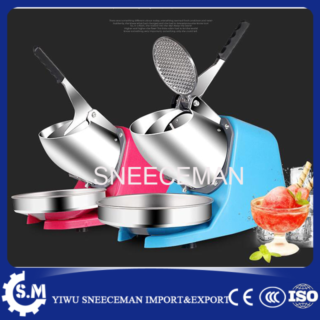 high efficiency 85kg/h commercial stainless steel electric bar snow cone ice crusher automatic ice shaver making machine 220v ice crusher summer sweetmeats sweet ice food making machine manual fruit ice shaver machine zf