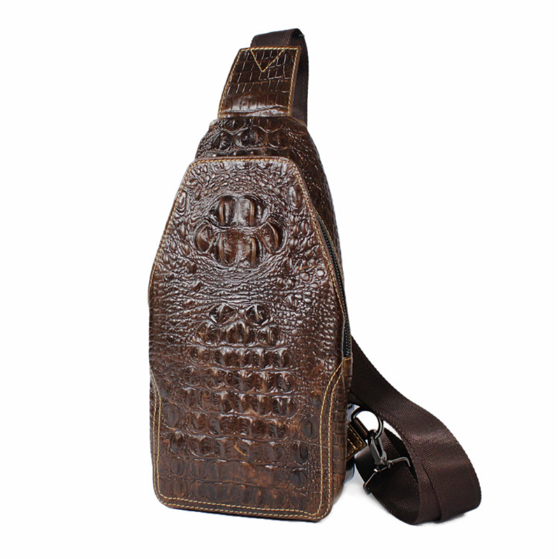 motorcycle chest rider genuine cowhide leather alligator Shoulder messenger Crossbody Retro men travel purses wallet phone bags motorcycle chestpack rider genuine cowhide leather tide fashion shoulder messenger crossbody travel purses wallet packet bags