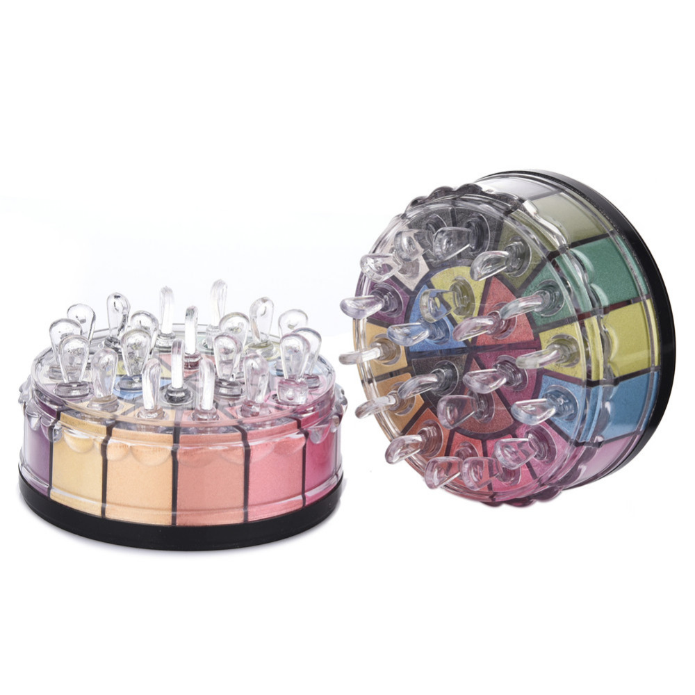 20 Colors Glitter Eyeshadow Palette maquillage smoky eyes cosmetic champagen pigment mineral eye shadow powder Nude Brush