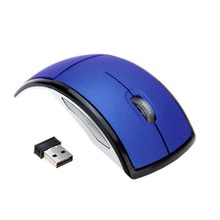 New Gaming Mouse Fashion USB Wireless 2 4GHz Arc Folding Mouse for Laptop Tablet PC Computers