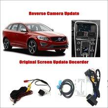 Liislee For Volvo XC60 2015~2017 Original Screen Update System / Reversing Track Image + Reverse Rear Camera Digital Decoder