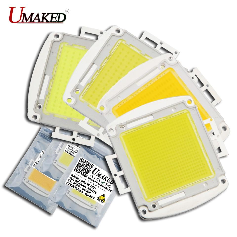 UMAKED haute puissance puces LED 120 W 150 W 200 W 300 W 400 W 500 W lampe à ampoule SMD Diodes COB chaud/naturel/blanc/frais LED Source de lumière Spot