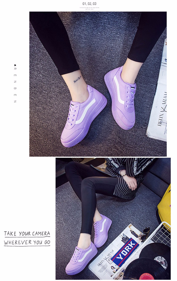 Free Shipping 2016 New Fashion Women Casual Shoes Comfortable Lace-up Woman Flats Classic Round Toe Sports Shoes ST427 (5)