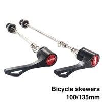 Ultralight 1 Pair MTB Road Bike Quick Release Bicycle Skewer 100mm 135mm Thru Axle Wheels