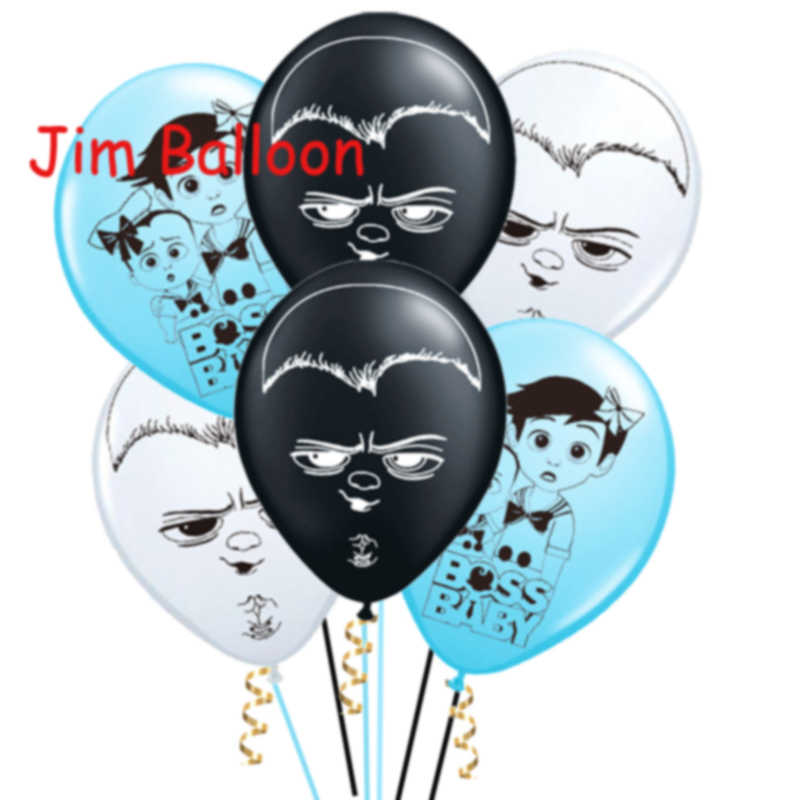 Wholesale 12pcs Lot Boss Baby Latex Balloon Inflatable Girl Happy Birthday Decorations Globos Toys For