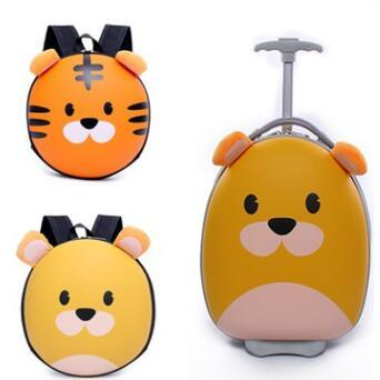 Kids Travel Suitcase Cartoon Suitcase for boys wheeled suitcase for girls Children Trolley Bags for kid Rolling luggage suitcase фото