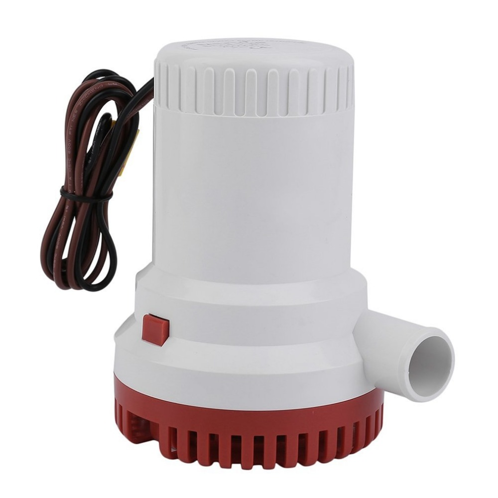 2000GPH 12V Non-automatic Corrosion-resistant Anti-Airlock Protection Submersible Marine Boat Bilge Pump Vacuum Water Pump