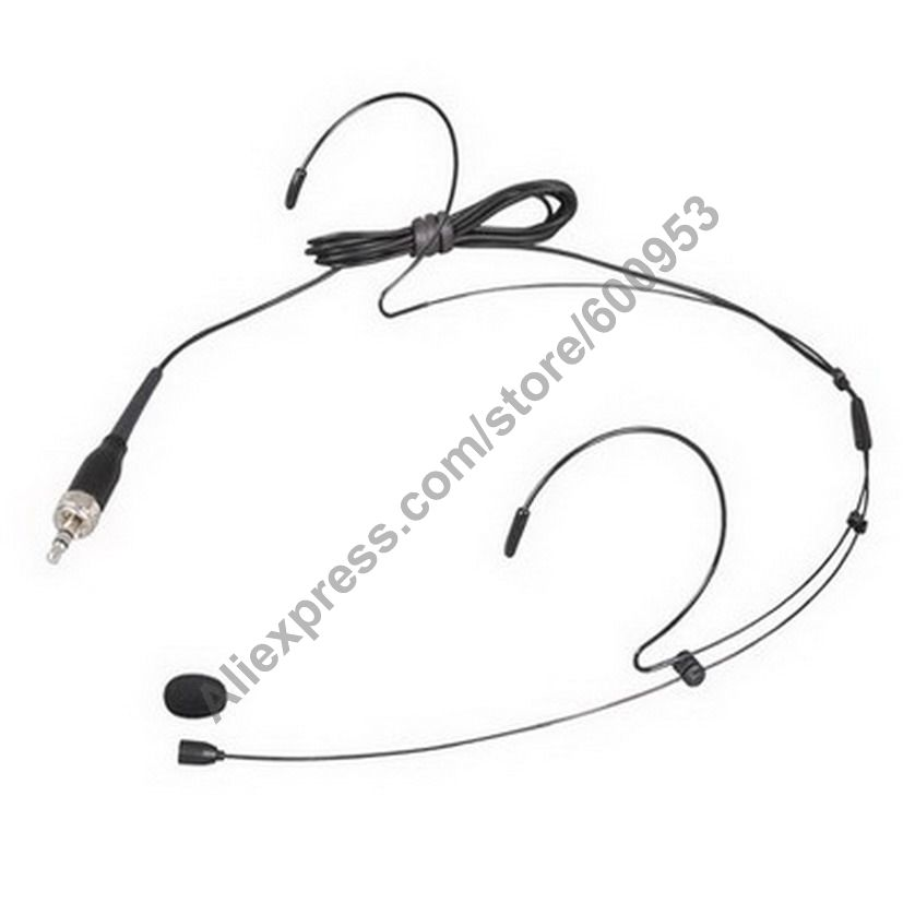 micwl black dual ear omnidirectional headset microphone for sennheiser g1 g2 g3 head headworn