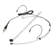 MICWL Black Single ear Omnidirectional Headset Microphone For Sennheiser G1 G2 G3  Head Headworn Mic