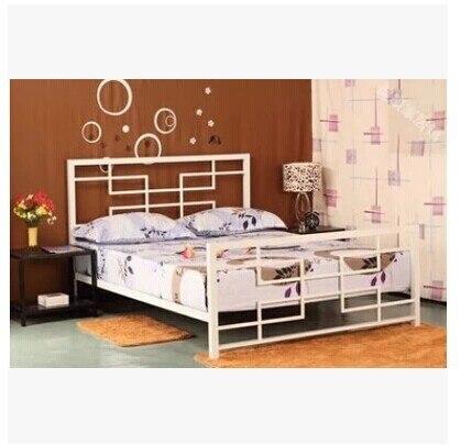 European Retro Fashion Wrought Iron Double Bed Single Garden Princess Children