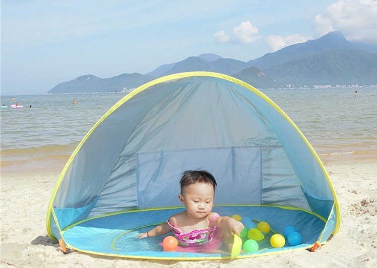 Widesea Baby beach tent uv protecting sunshelter with a pool waterproof pop up awning tent kid outdoor c&ing sunshade beach-in Tents from Sports ...  sc 1 st  AliExpress.com & Widesea Baby beach tent uv protecting sunshelter with a pool ...