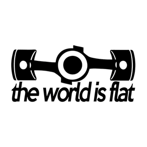 Dewtreetali New Flat boxer engine window car stickers vinyl car body sticker for porsche VW subaru impreza BRZ Decor Black White(China)