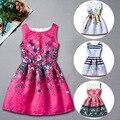 Европейский Принцесса Девочка Печати Платье Лето Характер Бабочка Ребенок Платье Disfraces Детская Одежда Распечатать Платье 12 Лет