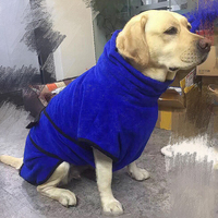 Bathrobe for pet cat dog clothes soft grooming towel coat jacket large pet products supply highly absorbent