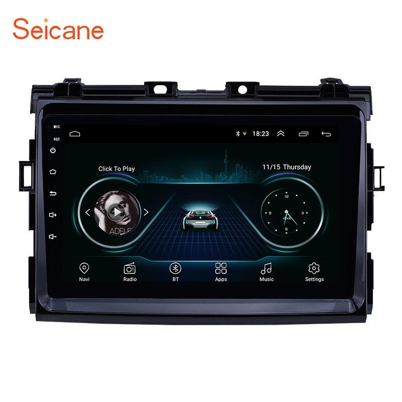 Seicane pour Toyota Previa 2006 2007 2008-2012 Android 8.1 9 pouces unité de tête voiture GPS Navigation Radio support OBD2 DVR SWC Carplay