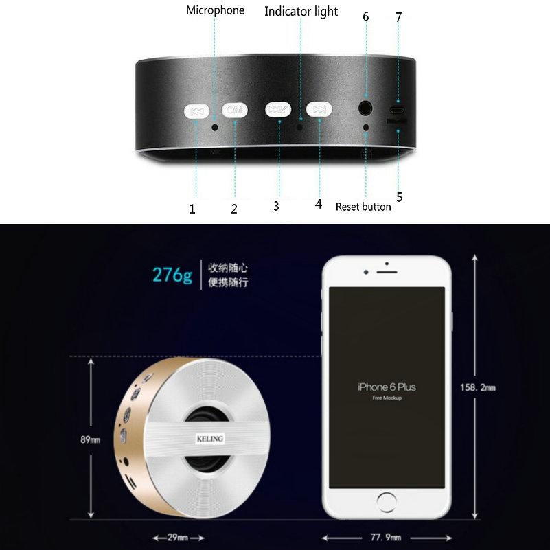 Altavoz Bluetooth 4.0 Llegada Mini Música portátil Portátil - Audio y video portátil - foto 3