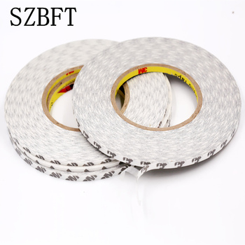 SZBFT 3mm *50M 3M 9080Super Slim & Thin 3MM*50M white Double Sided Adhesive Tape for Mobile Phone Touch Screen/LCD/Display Glass double sided screen adhesive tape vehicle mobile phone ipad tape 1mm 2mm 3mm 5mm 8mm 10mm 15mm 20mm 15mm 30mm x 50m black