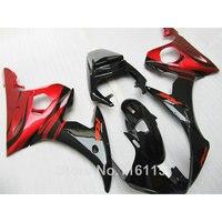 Высококачественная ABS Обтекатели для YAMAHA R6 2003 2004 2005 красный черный обтекатель комплект YZF R6 03 04 05 обвесы #195