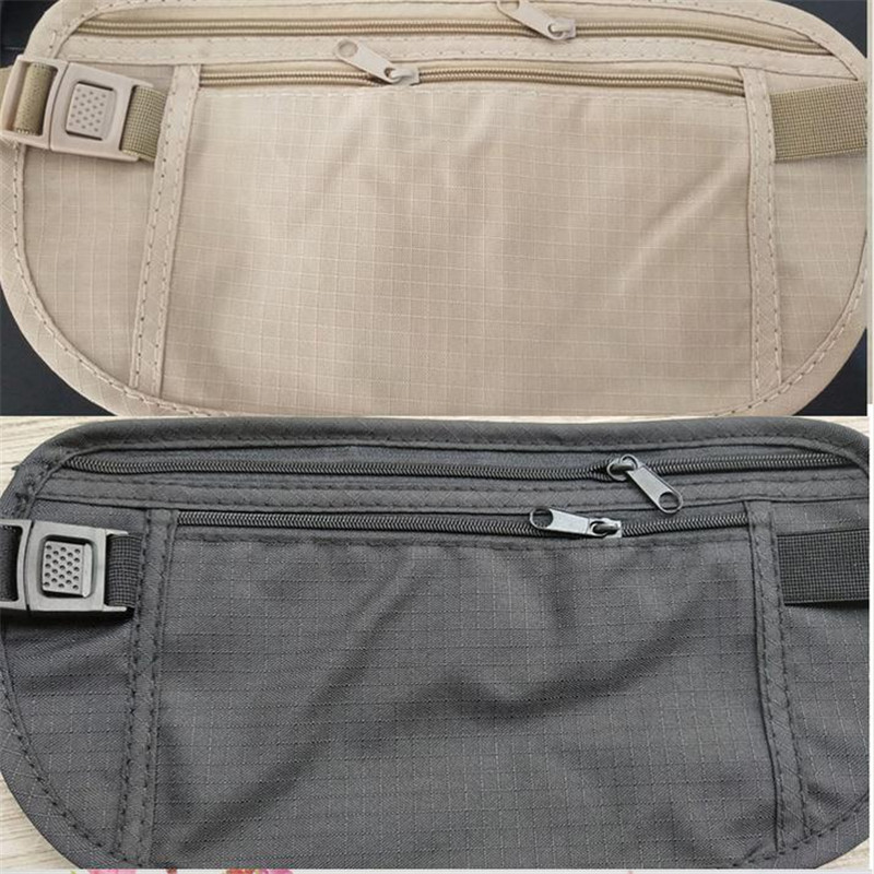 Resistant Nylon Plus Travel Pouch Marsupio In Vita Hidden Passport Money Waist Belt Bag Slim Secret Security Hidden Wallet