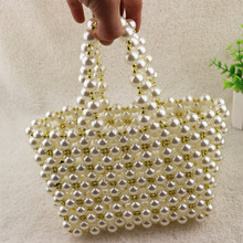 Pearl Bag Beaded Box Handbag Female Beaded Evening Dress Small Mini Handbag 2019 Summer Luxury Brand Handmade Banquet Bag цена 2017