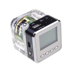 Image 3 - Receptor de Radio FM portátil, minialtavoz estéreo de sonido LCD Digital, microSD/TF, música para teléfono móvil, MP3, PK TDV26