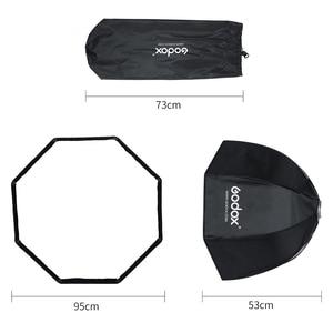 Image 3 - Godox 95cm 37.5in Portable Octagonal Umbrella Softbox with Honeycomb Grid Bowens Mount Studio Flash Softbox SK400II QT400II