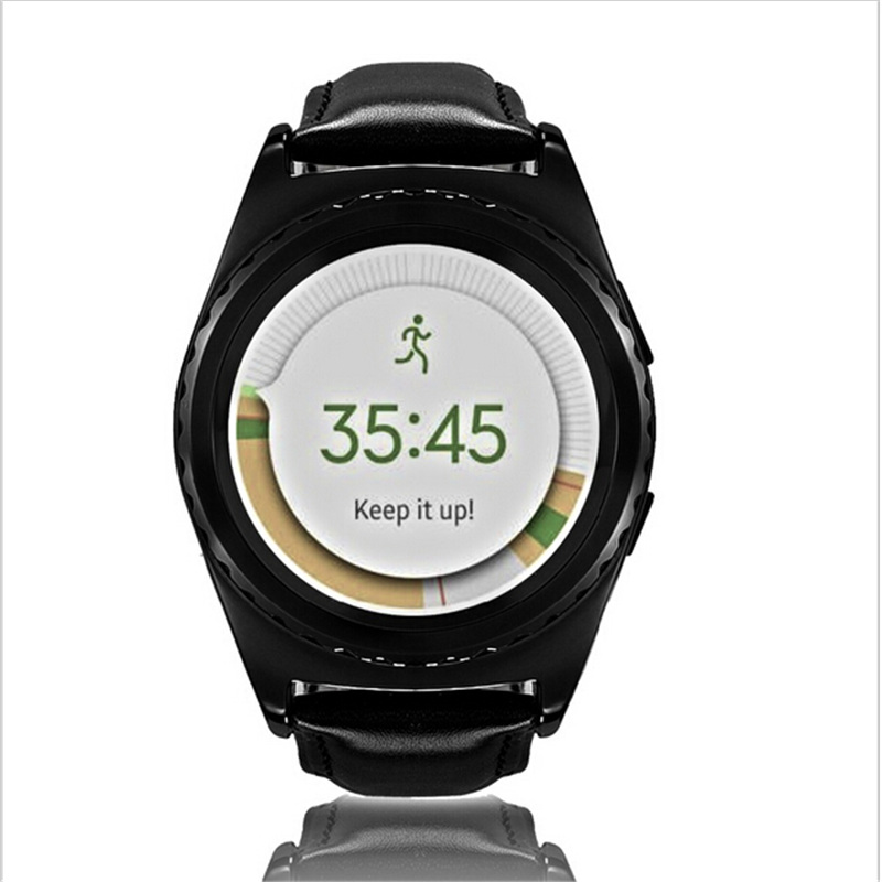 SIM Smartwatch Android Bluetooth 3 0 font b Smart b font Health Heart Rate Monitor Temperature