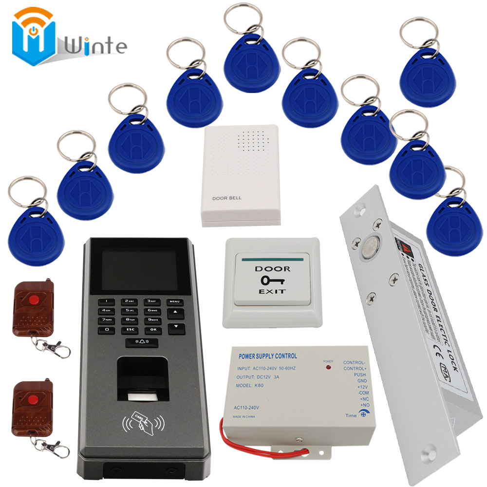 Fingerprint RFID Access control system set  Control Machine  Digital Scanner Sensor For Door Lock Time Attendance access DouWin f807 tcp ip biometric fingerprint access control machine digital electric rfid reader scanner sensor code system for door lock