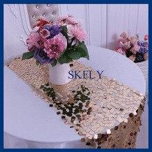 RU009S элегантный великолепный свадебный большой квадратный стол с золотыми блестками