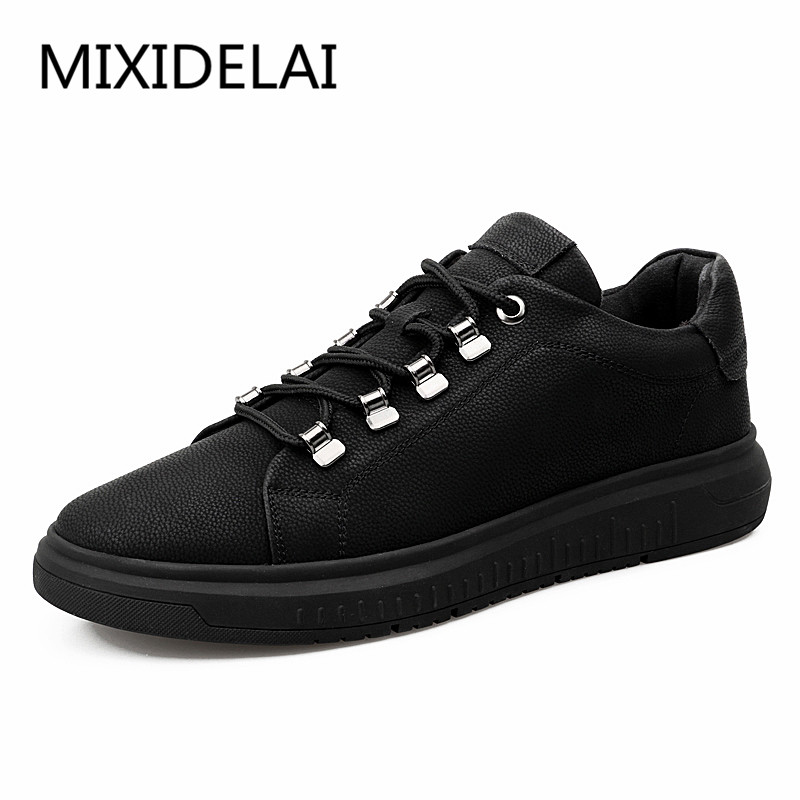 Men flats genuine soft leather casual shoes flat mens black daily net leisure lace up shoe 38-44 MIXIDELAI PROMOTION bimuduiyu new england style men s carrefour flat casual shoes minimalist breathable soft leisure men lazy drivng walking loafer
