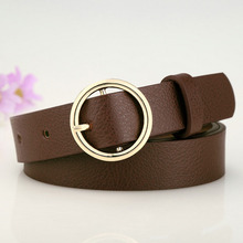 Cinturones de Cuero Redondos para Mujer