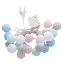 High Quality 3M 20 LED Colorful Cotton Ball LED Strings Christmas Wedding Party Fairy Lights