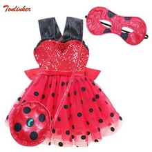 Girls Ladybug Costume Halloween Lady bug Outfit Ladybird Fancy Dress Baby Girl Birthday Party Tutu Kids 2-8