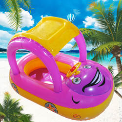 Портативная детская надувная лодка с сиденьем надувной матрас летний капюшон трубчатое кольцо для автомобиля плавательный бассейн для