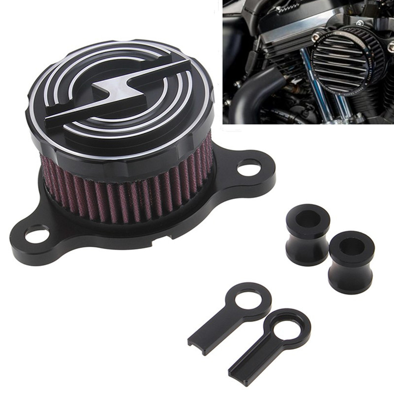 CNC Aluminum Motorcycle Rough Crafts Air Cleaner+Intake Filter System Fits For  Harley Davidson Sportster 2004-2014 XL 883 1200