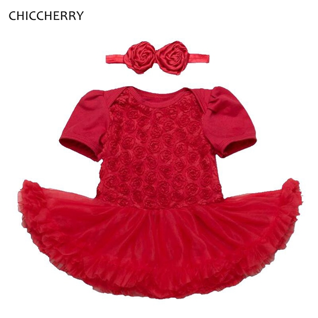 3D Rose Toddler Valentine Dress Headband Vetement Bebe Fille Newborn Baby  Girl Clothes Valentineu0027s Day Outfit