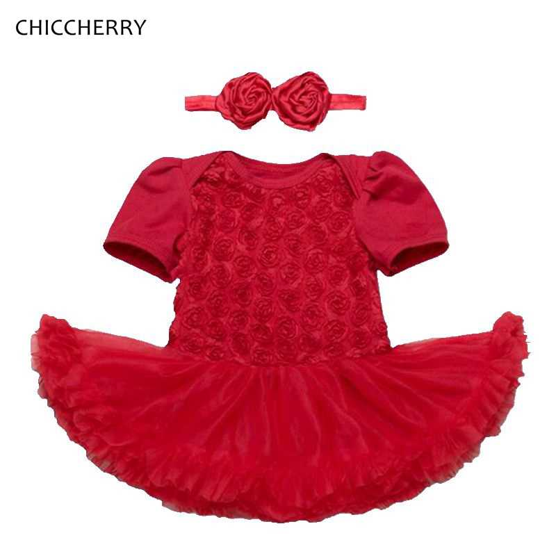 8cb4e25ad Detail Feedback Questions about 3D Rose Toddler Valentine Dress ...
