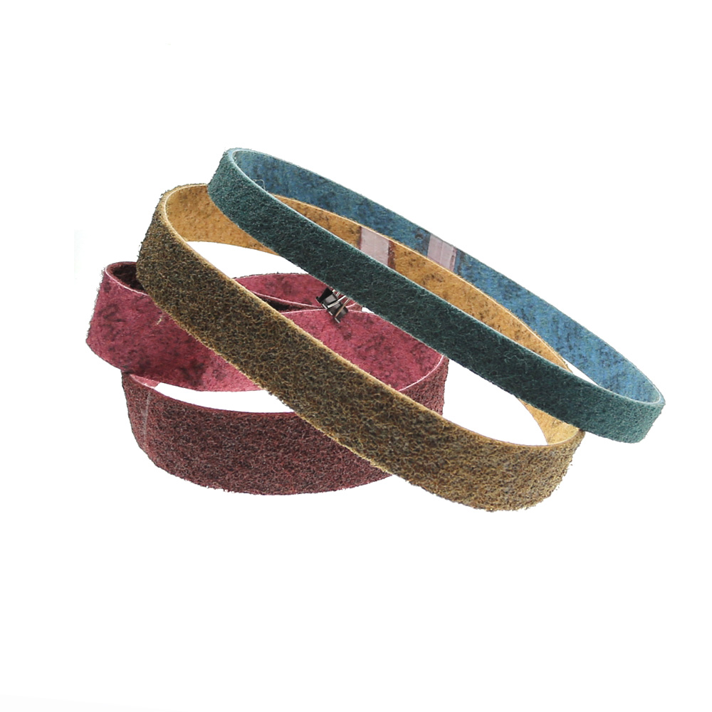 Non-woven Nylon Sanding Bands Very Coarse To Fine Fiber Abrasive Belts