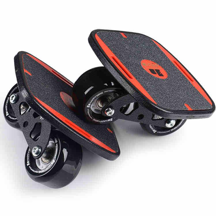 free shipping freeline skate drift board black wheel board size 16.5x14cm happy wing