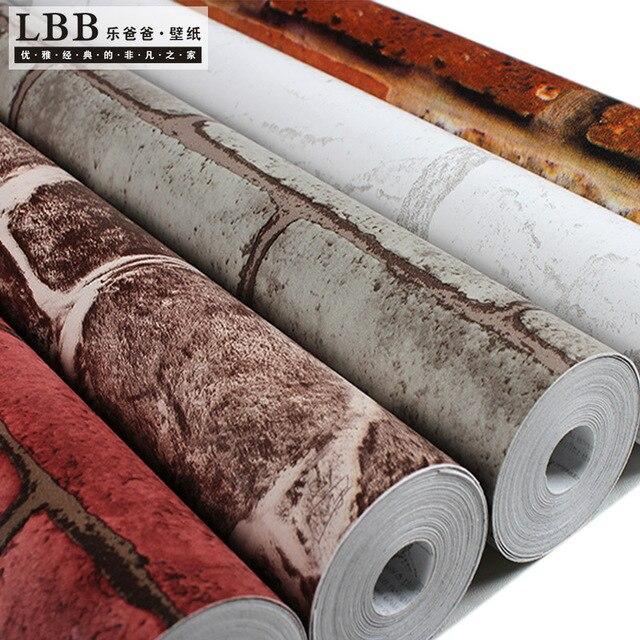10 M Pvc Papier Peint Autocollant Papier Peint De 3 D Nostalgie