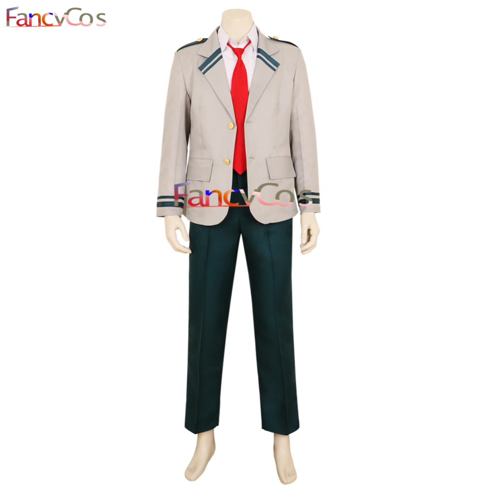 Halloween My Hero Academia Uniform Izuku Midoriya Yuga Aoyama U.A. High School Uniform Cosplay Costume Game Quality Deluxe