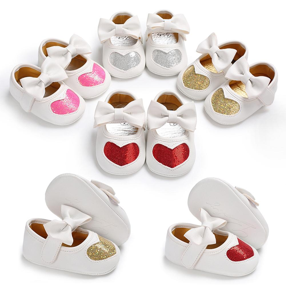 Cute Big Bow Baby Girls Toddler Anti-slip Shoes Soft Sole First Walker Footwear