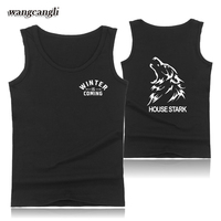 2017 Game Of Thrones 7 Fitness Bodybuilding Tank Top Men Clothing House Stark Winter Is Coming