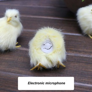 Image 4 - Mini Artificial Plush Toy Chicken With Electronic Microphone,DIY for Halloween Decoration,Birthday Party Supplies,Wedding Favors