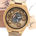 BOBOBIRD Casual Wood Watch Male watches Christmas Gift Relogio Masculino Exposed Movement Design Skeleton Men and Women Watch