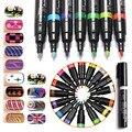 16 Colors for 3D Nail Art DIY Decoration Gel Nail Polish Pen Set 3D Design Nail Beauty Manicure Tools Paint Draw Pen Nagellak