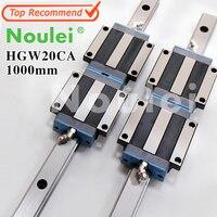 Noulei HGW20CA motion слайд блоки с HG20 1000 мм линейный направляющей 20 мм для ЧПУ деталей набор высокого качества Гия Линейный