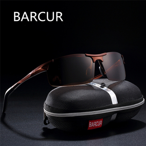 Image 2 - BARCUR Classic Design Aluminum Sunglasses Men Women Polarized Anti Reflective Sun glasses Male Oculos De Sol Shades
